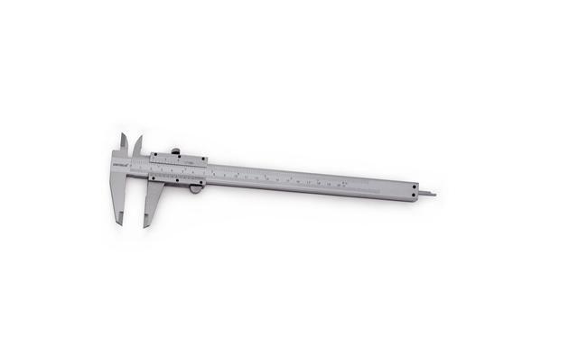 """Paquímetro Universal Aço Carbono Cromado 200mm/8"""" King Tools 500.200"""