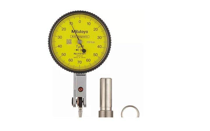 Relógio Apalpador Horizontal Anti-magnético 0,14mm 0,001mm Mitutoyo 513-401-10E