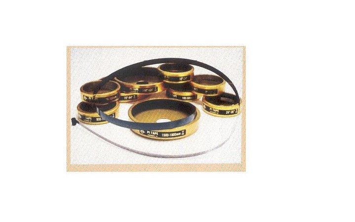 Fita Pi para Medição de Diâmetro e Perímetro Aço Carbono 100-300mm marca Pi-tape-USA