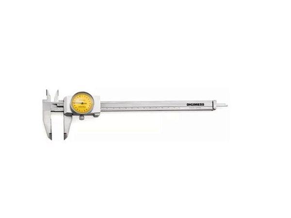 Paquímetro com Relógio Pontas Metal Duro 150mmx0,02mm Digimess 100.040