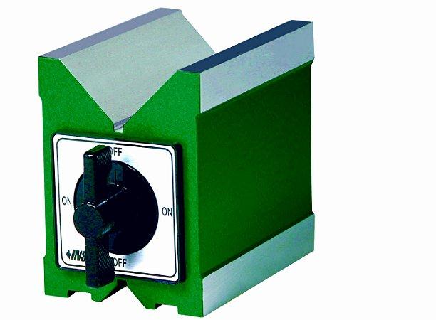 """Bloco em """"V"""" Magnético C/ Força de 120KGF 80x67x95mm Insize 6890-1201"""