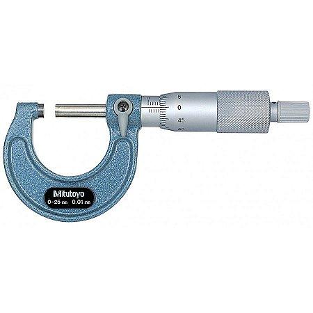 Micrômetro Externo 0-25mm 0,01mm Mitutoyo 103-137