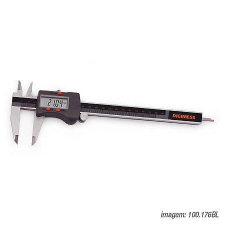 "Paquímetro Digital Com Dígitos Grandes 200mm/8"" 0,01mm/.0005"" Digimess 100.176BL"
