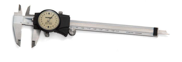 Paquímetro com Relógio 150mm/0,02mm Digimess 100.034