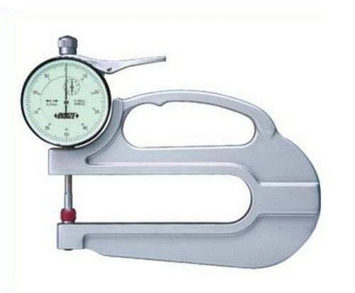 Medidor de Espessura com Relógio com Arco de 120mm 0-10mm / 0,01mm Insize 2365-10