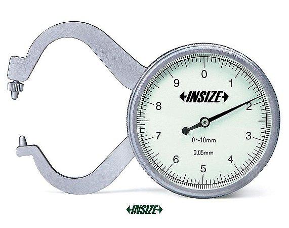 Medidor de Espessura com Relógio 0-10mm 0,05mm Insize 2863-10
