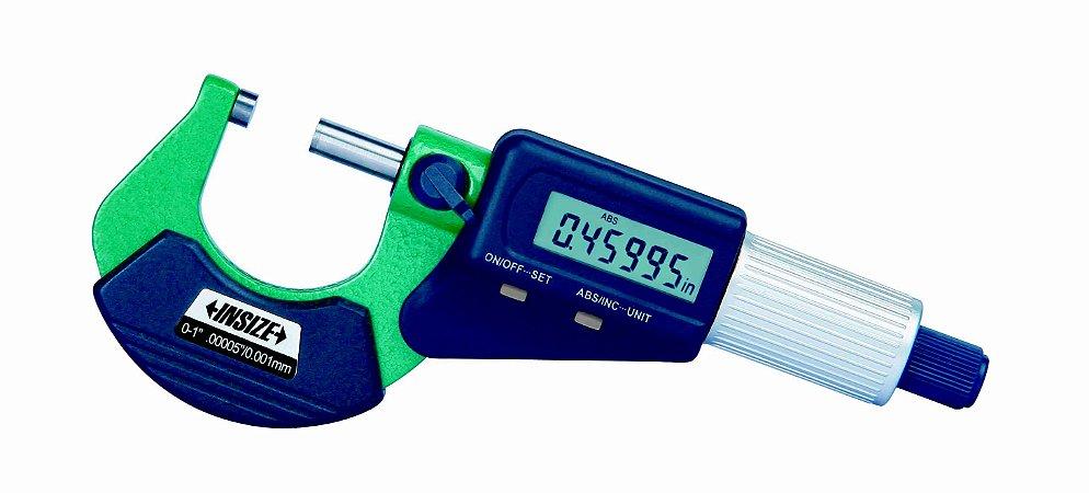 "Micrometro Externo Digital 25-50mm 0,001mm/0,0005"" Insize 3109-50A"