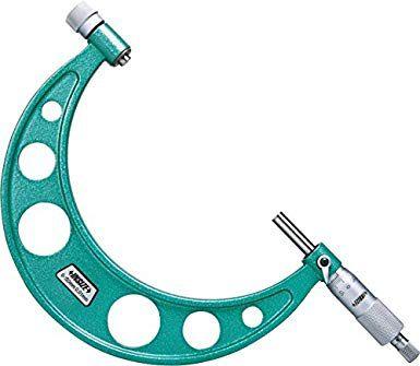 Micrometro Externo com Batentes Intercambiáveis 0,01mm 100-200mm Insize 3206-200A
