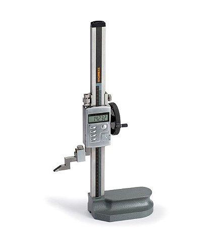 """Calibrador Traçador de Altura Digital com Roldana 0,01mm/.0005"""" 300mm/12"""" Digimess 100.420"""