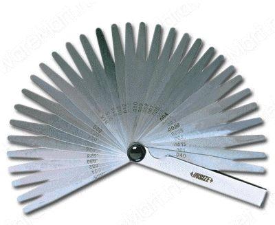 Calibrador de Folga C/ 20 pçs. 0,05-1mm comprimento das laminas de 100mm Insize 4602-20