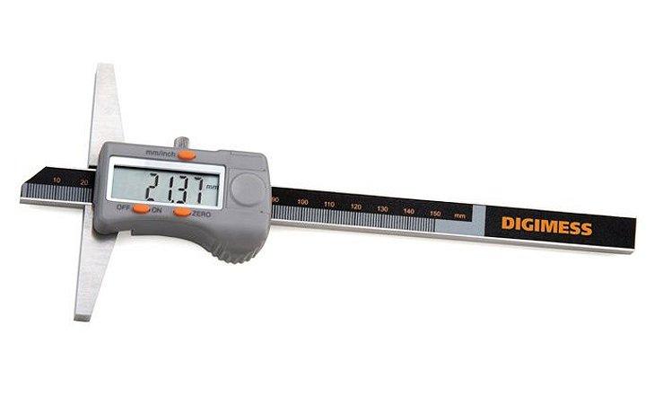 "Paquimetro Digital de Profundidade 150mm/6"" 0,01mm/.0005"" Base 100mm Digimess 100.209"