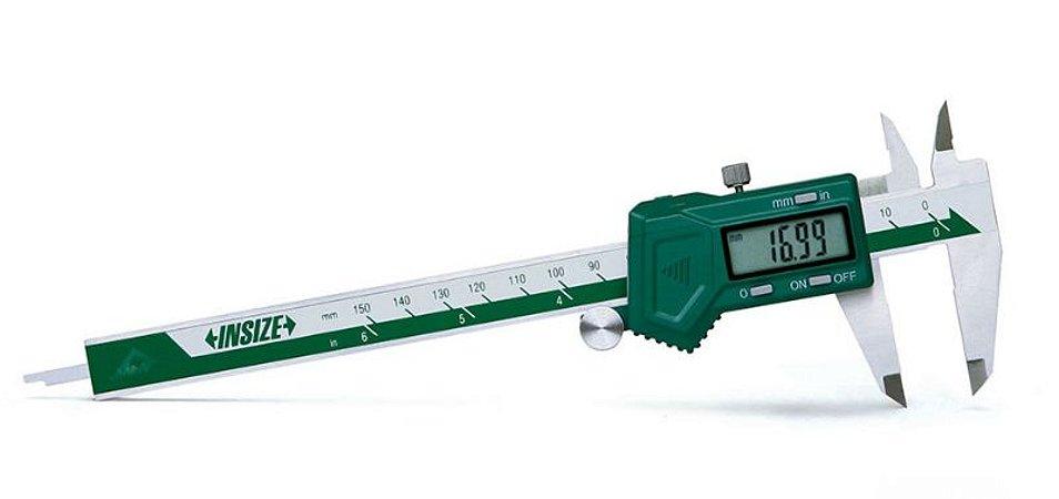 """Paquimetro Digital para Canhoto 0-150mm/0-6"""" 0,01mm/0.0005"""" Insize 1130-150"""