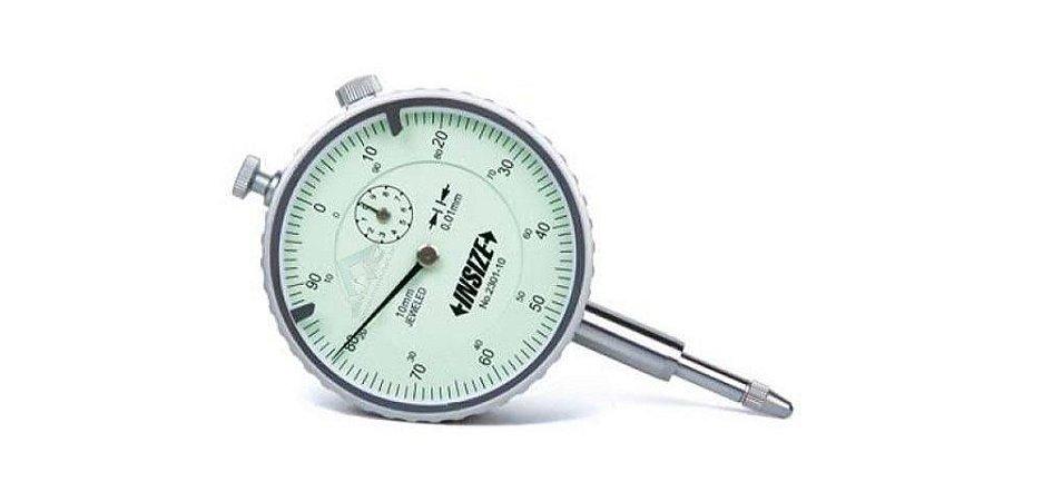 Relógio Comparador 10mm graduação 0,01mm Insize 2301-10