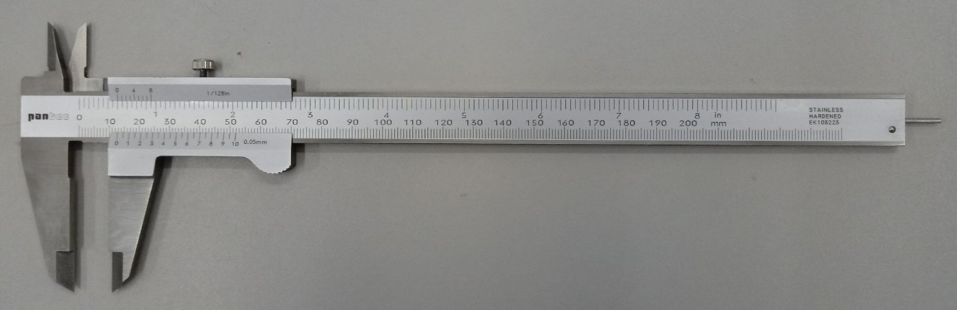 "Paquimetro Universal com Haste Redonda 200mm/8"" Pantec 11206R-200-5"