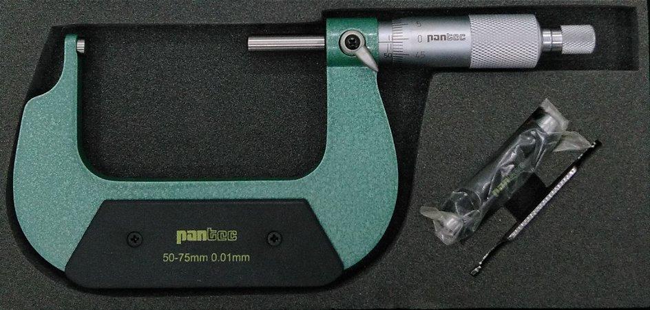 Micrometro Especial C/2 Pontas Esféricas 50-75mm/0,01mm Pantec 13260-75B