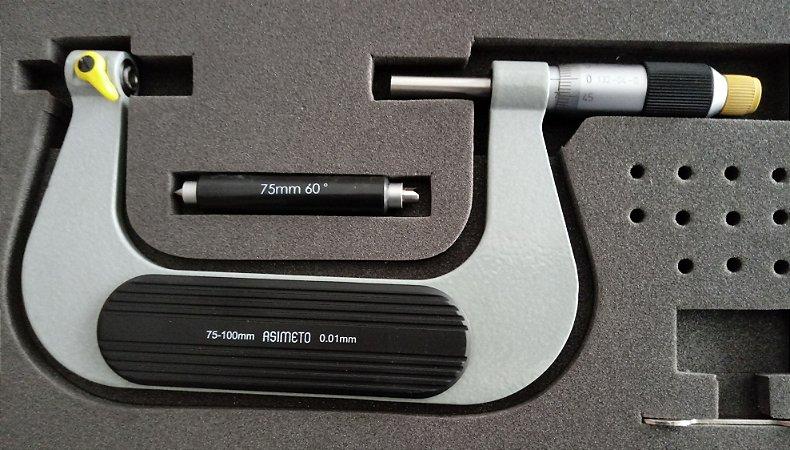 Micrometro Externo p/Roscas 75-100mm/0,01mm Asimeto 132-04-0