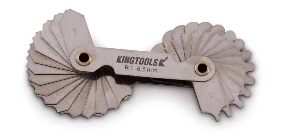 Calibrador de Raio de 1-6,5mm C/32 laminas King Tools 600.000