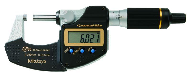 Micrômetro Externo Digital QuantuMike 0-25mm 0,001mm IP65 Mitutoyo 293-140-30