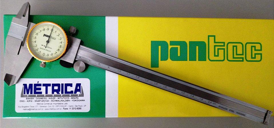 Paquímetro com Relógio 200mm/0,02mm Pantec 11312-200