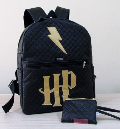 KIT ESCOLAR HARRY POTTER - MOCHILA + ESTOJO DUPLO
