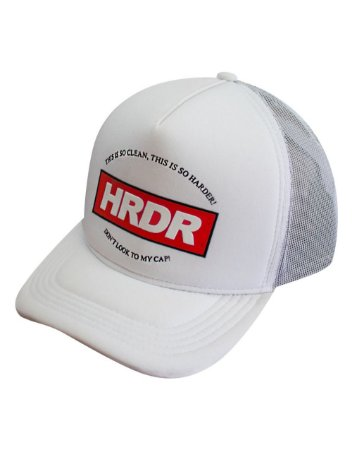 Boné Trucker Harder LOGO Branco