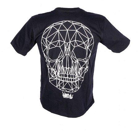 Camiseta Caveira Holograma