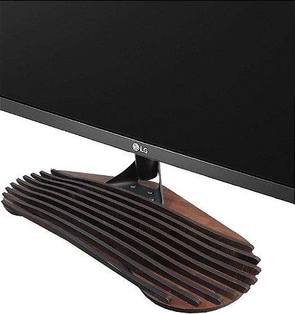 Base Para Tv Pé para tv universal de madeira 32-55 pol Samsung Lg Sony