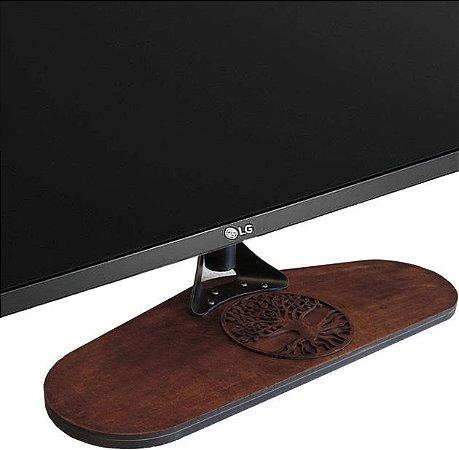 Base Para Tv Pé tv universal madeira 32a55 Figura