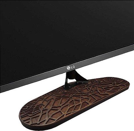 Base Para Tv Pé tv universal madeira 32a55 mascara