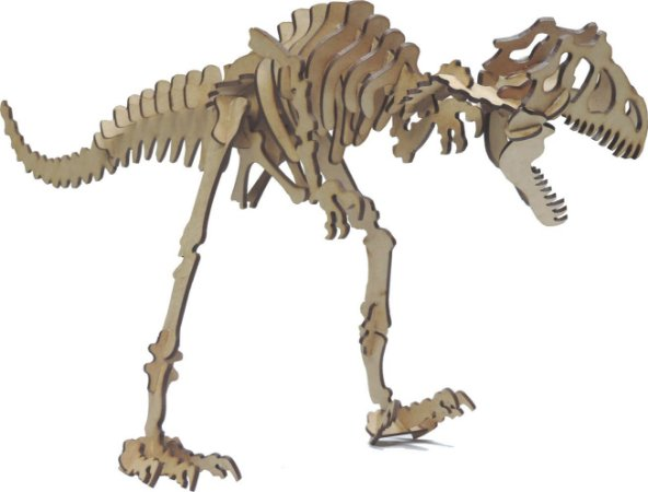 Quebra Cabeça 3D allanosauros 48PÇS mdf