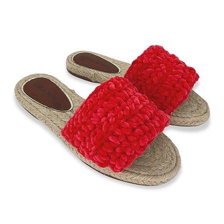 Slide Crochê Vermelho