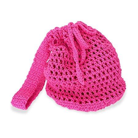 Bolsa de Crochê Pink Neon