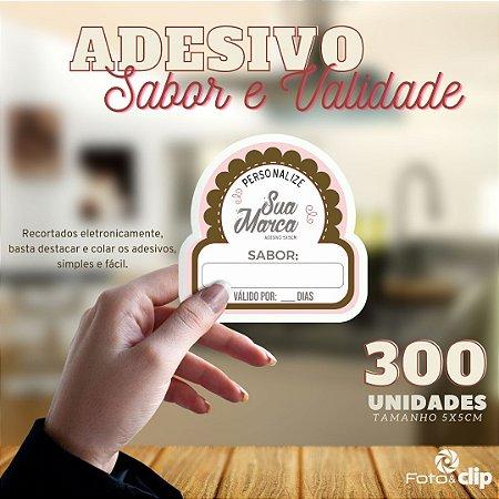 ADESIVO SABOR E VALIDADE - TAMANHO 5X5CM