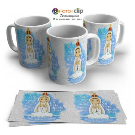 Nossa Senhora de Fátima - Caneca de porcelana 325ML