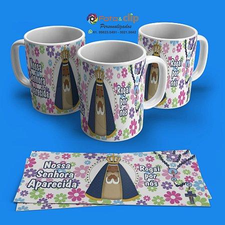 Nossa Senhora Aparecida - Caneca de porcelana 350ml