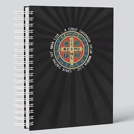 CADERNO SÃO BENTO (PERSONALIZADO COM SEU NOME) TAMANHO A5 (21CM X 15 CM)