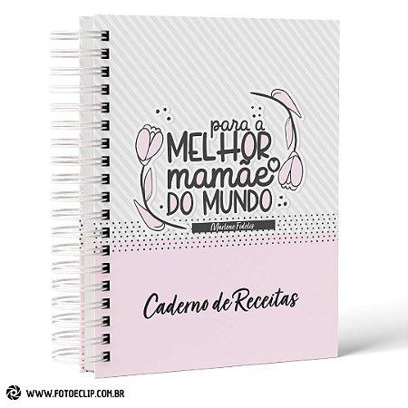Caderno de Receitas e Caneca de Porcelana Dia das Mães