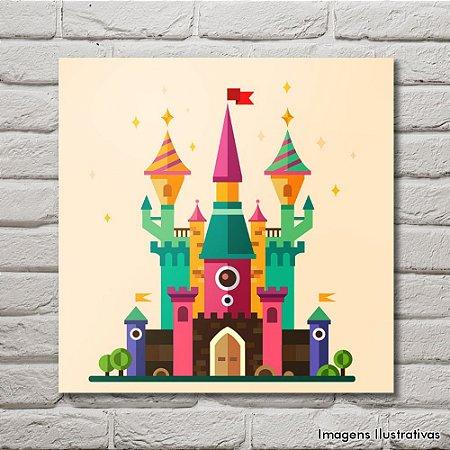 Quadro Infantil Castelo de Princesa