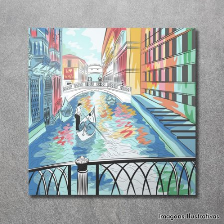 Quadro Decorativo Grande Canal de Veneza