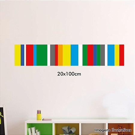 Adesivo de Parede Decorativo Listra Colorida