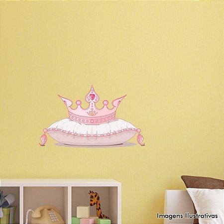 Adesivo de Parede Infantil Coroa na Almofada