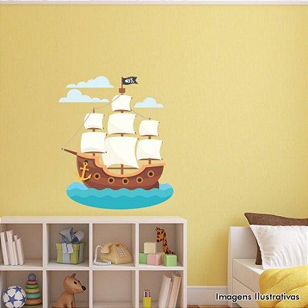 Adesivo de Parede Infantil Barco Pirata