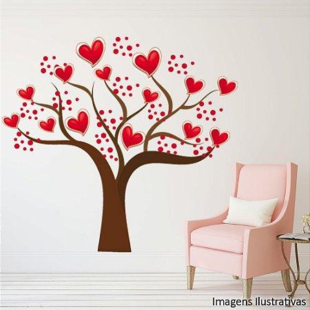 Adesivo de Parede Árvore com Coração