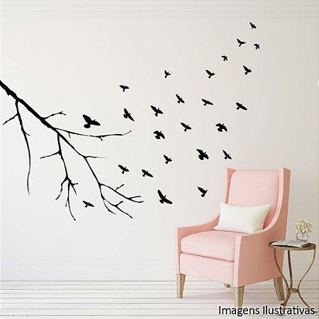 Adesivo de Parede Voo dos Pássaros