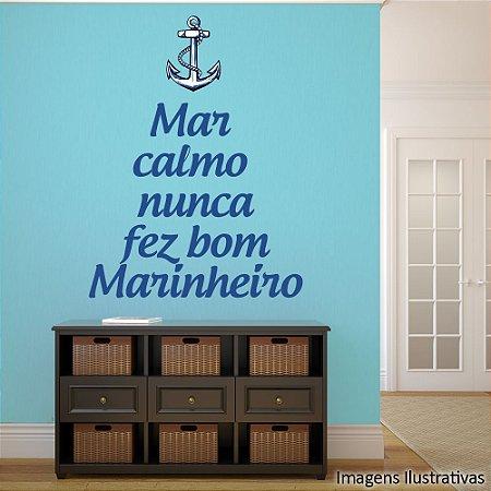 """Adesivo de Parede Frases """"Mar Calmo"""""""