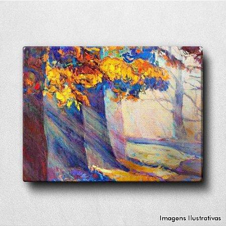 Quadro Decorativo Floresta no Outono