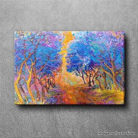 Quadro Decorativo Arvores Azuis