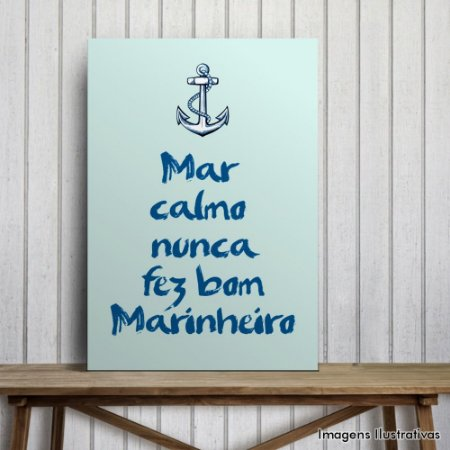 "Quadro Decorativo Frases ""Mar Calmo """