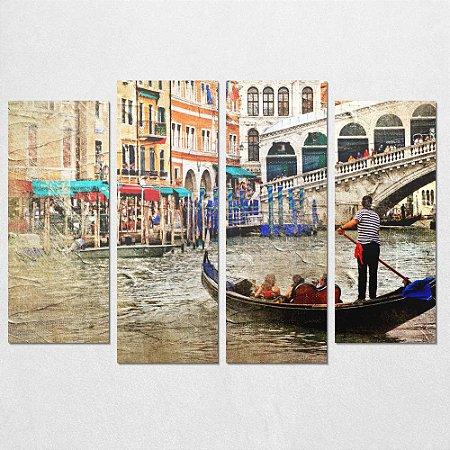 Conjunto de Quadros Decorativo Veneza 0,70 x 1,00 m