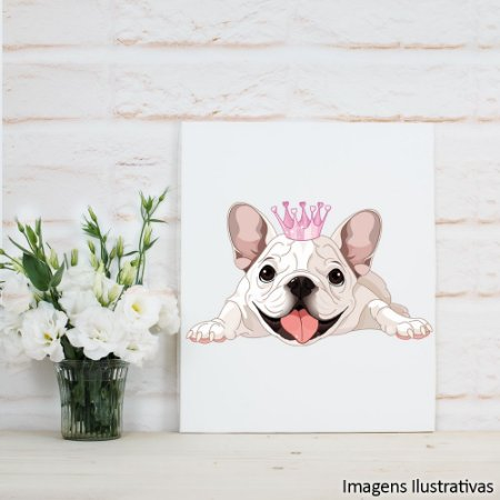 Quadro Decorativo Bulldog Princesa